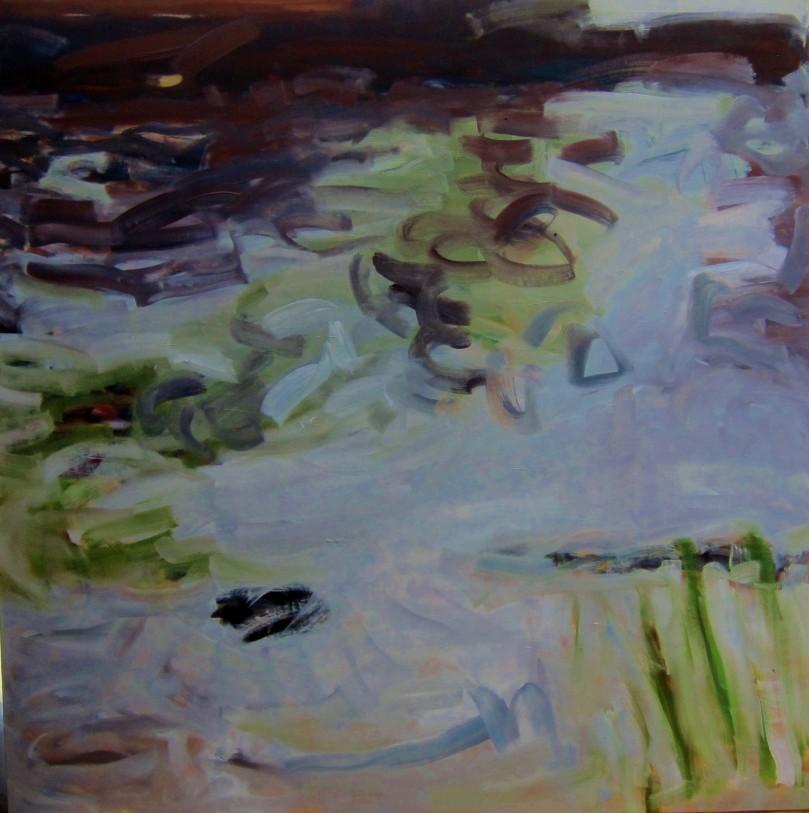 Diffusion I, Oil on Canvas, 1mx1m, RCARROLL