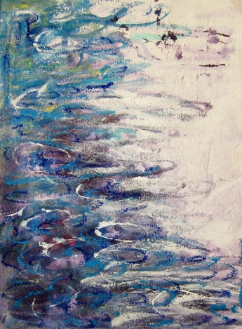R.Carroll.Water Series - mixed media on Cotton Rag