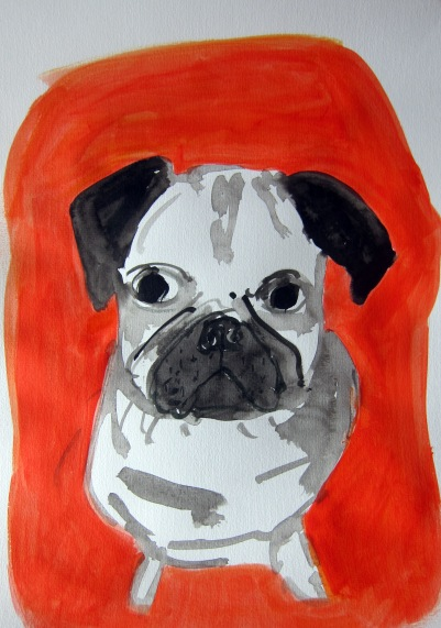 Pug by Rachel Carroll 2017