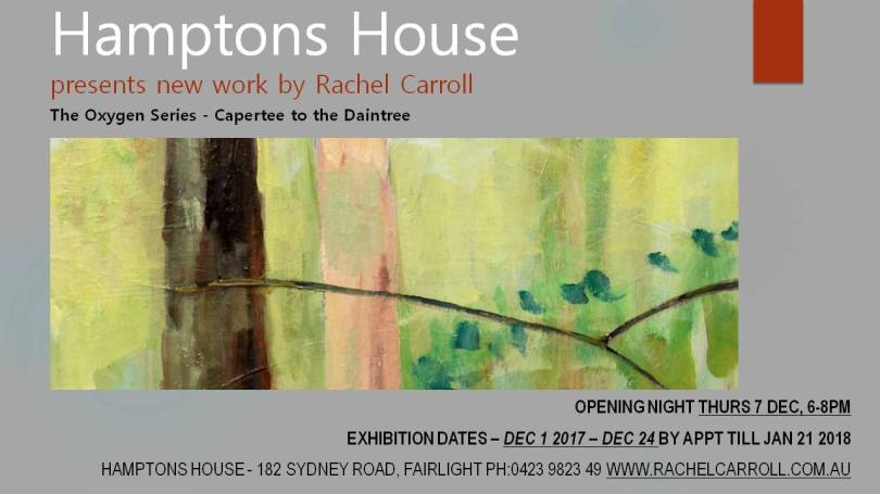 Hamptons House FINAL INVITE - Rachel Carroll - Oxygen Series
