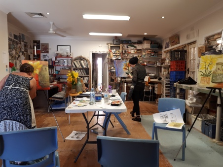 Still Life workshop Sydney Art Space - Mona Vale - Jan 2018