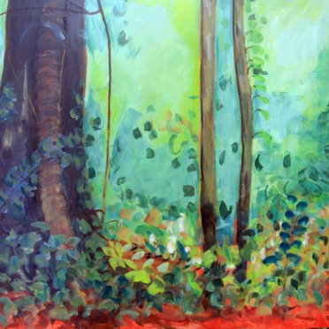 Daintree - Light oil on board 100x100cm _Rachel Carroll