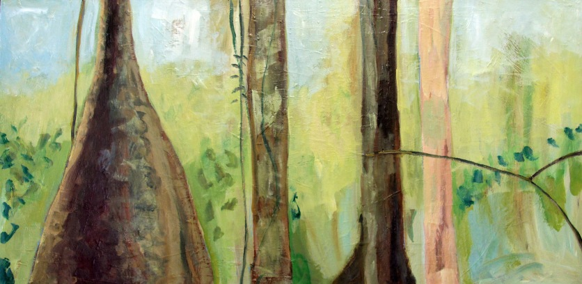 Daintree Calm I 120x70cm _ Rachel Carroll - Oil on Board_LG